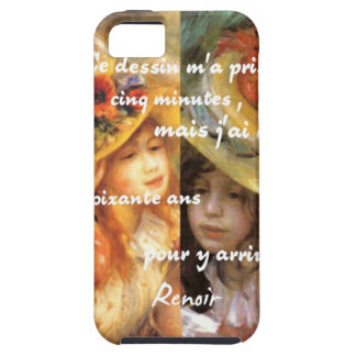 Capa Tough Para iPhone 5 As pinturas de Renoir são abundância do amor