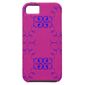 Capa Tough Para iPhone 5 Azul do rosa dos elementos do design