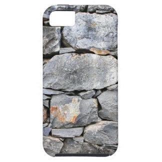 Capa Tough Para iPhone 5 Backgound de pedras naturais como a parede