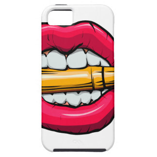 Capa Tough Para iPhone 5 bala na boca