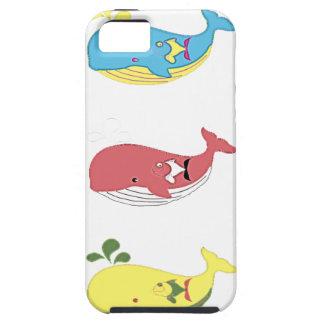 Capa Tough Para iPhone 5 Baleias amigáveis
