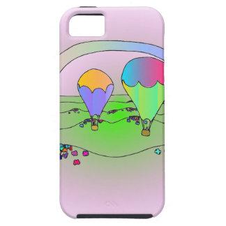 Capa Tough Para iPhone 5 Balões de ar quente do arco-íris