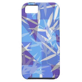 Capa Tough Para iPhone 5 Bambu no teste padrão geométrico azul