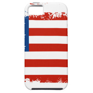 Capa Tough Para iPhone 5 Bandeira americana afligida