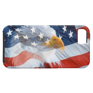 Capa Tough Para iPhone 5 Bandeira americana da águia americana patriótica