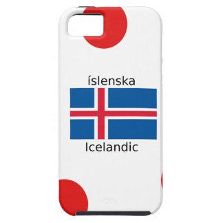 Capa Tough Para iPhone 5 Bandeira de Islândia e design islandês da língua