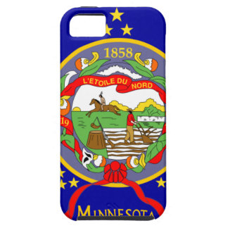 Capa Tough Para iPhone 5 Bandeira de Minnesota