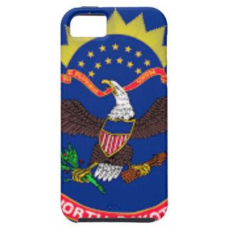 Capa Tough Para iPhone 5 Bandeira de North Dakota