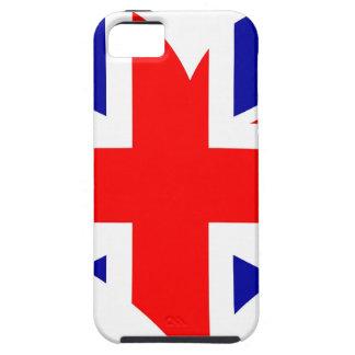Capa Tough Para iPhone 5 Bandeira do coração de Union Jack