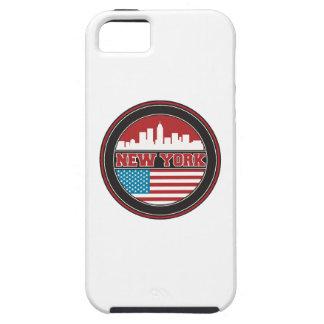 Capa Tough Para iPhone 5 Bandeira dos Estados Unidos da skyline | de New
