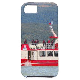 Capa Tough Para iPhone 5 Barco no cinza de Lago, Patagonia, o Chile