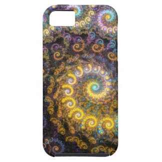 Capa Tough Para iPhone 5 Beleza do fractal do nautilus