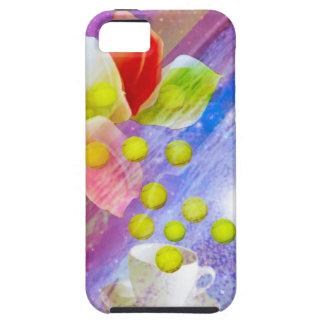 Capa Tough Para iPhone 5 Bolas de tênis da gota dos lírios a comemorar.