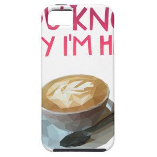 Capa Tough Para iPhone 5 Bolsa de estudo bêbeda anónima do AA do café