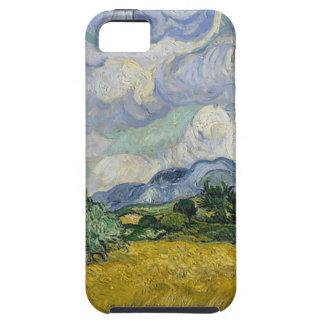 Capa Tough Para iPhone 5 Bosque de Cypress e campo de trigo