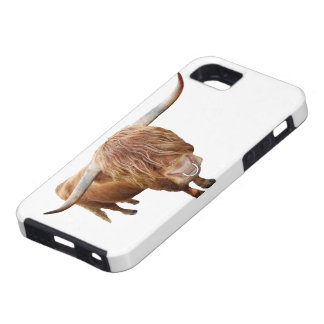 Capa Tough Para iPhone 5 Bovino escocês de planalto