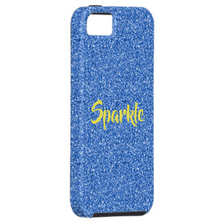 Capa Tough Para iPhone 5 Brilho azul