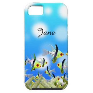 Capa Tough Para iPhone 5 Caixa, peixes & mar do telemóvel do AQUÁRIO