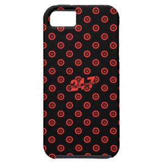 Capa Tough Para iPhone 5 Caixa preta & vermelha