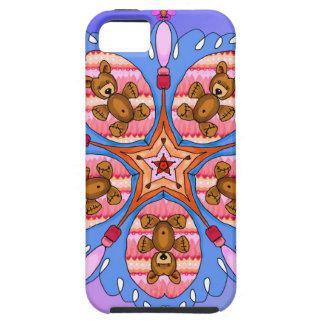 Capa Tough Para iPhone 5 Caleidoscópio dos ursos e das abelhas