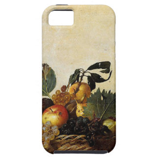 Capa Tough Para iPhone 5 Caravaggio - cesta da fruta - trabalhos de arte