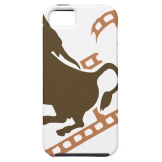 Capa Tough Para iPhone 5 Carretel de filme Bucking de Bull