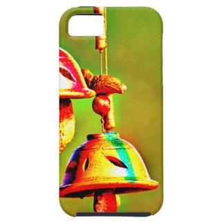 Capa Tough Para iPhone 5 Carrilhões de madeira coloridos