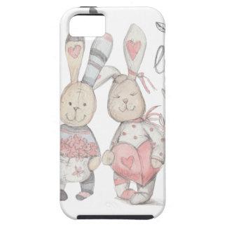 Capa Tough Para iPhone 5 casal banny 2 do coelho