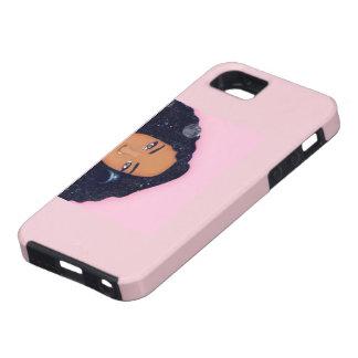 Capa Tough Para iPhone 5 Caso africano cor-de-rosa