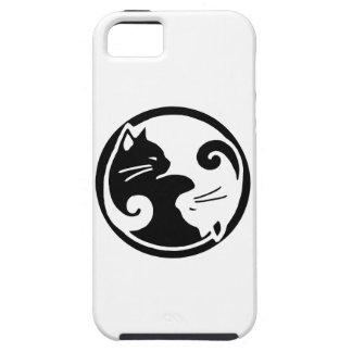 Capa Tough Para iPhone 5 Caso do iPhone 5/5S dos gatos de Yin Yang