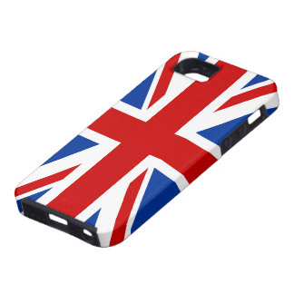 Capa Tough Para iPhone 5 Caso do iPhone 5 da bandeira de Union Jack
