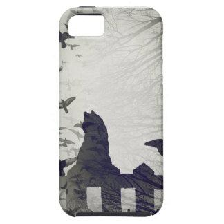 Capa Tough Para iPhone 5 Caso do iPhone SE/iPhone 5 do gato preto
