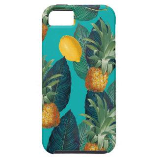 Capa Tough Para iPhone 5 cerceta do pineaple e dos limões