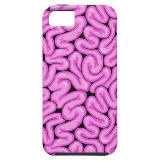 Capa Tough Para iPhone 5 Cérebro cor-de-rosa do zombi - impressão do