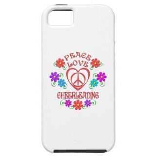 Capa Tough Para iPhone 5 Cheerleading do amor da paz