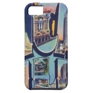 Capa Tough Para iPhone 5 Cidade de Chicago do vintage