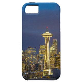 Capa Tough Para iPhone 5 Cidade de Seattle durante o nivelamento do