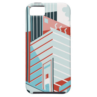 Capa Tough Para iPhone 5 Cidade moderna