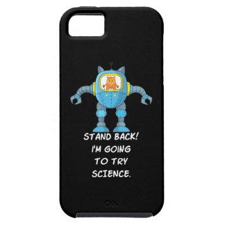 Capa Tough Para iPhone 5 Ciência engraçada do robô do cientista da