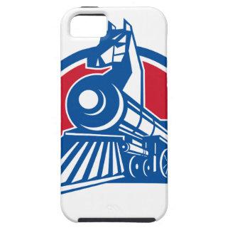 Capa Tough Para iPhone 5 Círculo locomotivo do cavalo de ferro retro