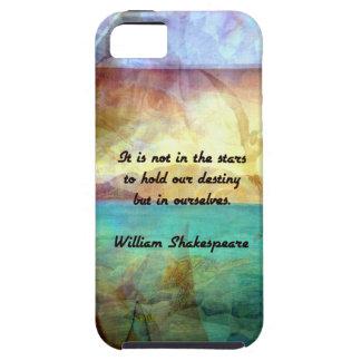 Capa Tough Para iPhone 5 Citações inspiradas de Shakespeare sobre o destino
