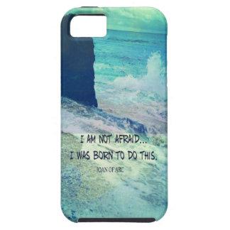 Capa Tough Para iPhone 5 Citações inspiradas JOANA da coragem do oceano do