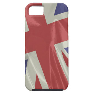 Capa Tough Para iPhone 5 Close up de seda da bandeira de Union Jack