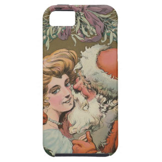 Capa Tough Para iPhone 5 Cobrir 1905 do disco do papai noel