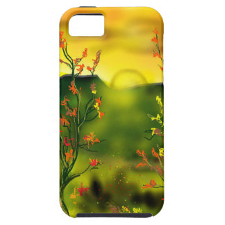 Capa Tough Para iPhone 5 Cobrir de IPhone 5 do por do sol do deserto