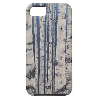 Capa Tough Para iPhone 5 Código Morse das árvores de vidoeiro