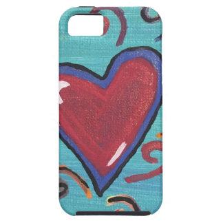 Capa Tough Para iPhone 5 Coleção vermelha dos corações