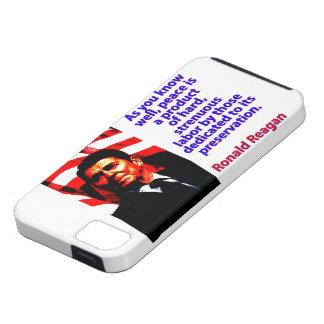 Capa Tough Para iPhone 5 Como você sabe bem - Ronald Reagan