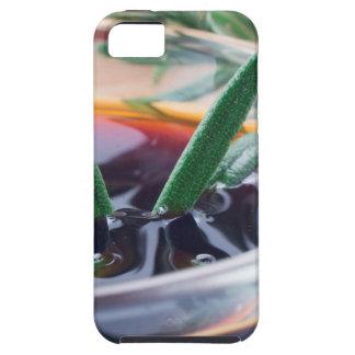 Capa Tough Para iPhone 5 Copo de vidro com molho e rosemary de soja