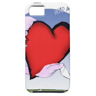 Capa Tough Para iPhone 5 coração principal de North Dakota, fernandes tony